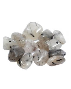 Tourmalinated Quartz 30-50mm Large Tumbled (200g) NETT