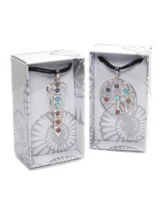 Metal Multi Design Chakra Pendant on Cord Retail Box (16 Piece) NETT