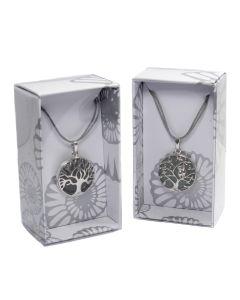 Tree of Life Metal Design Necklace on Cord Retail Box (16 Piece) NETT