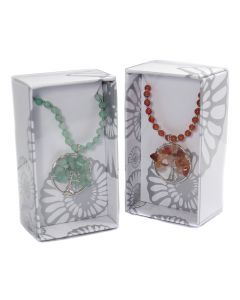 Gemstone Tree of Life Beaded Necklace Retail Box (16 Piece) NETT