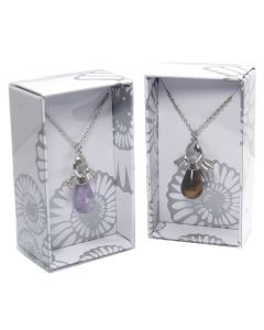 Gemstone Drop Shape Angel Necklace on Chain Retail Box (16 Piece) NETT