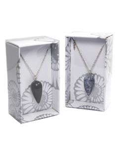 Rounded Cone Gemstone Pendulum Pendant on Chain Retail Box (16 Piece) NETT