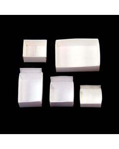"M-1 White Fold up box (1.5""x1.5""x3/4"") fit 54 per box (100pcs) NETT"