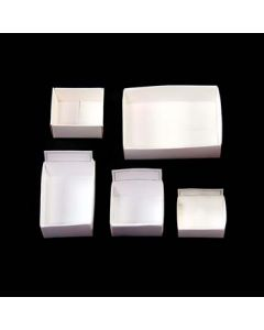 "M-4 White fold up box (4""x3""x1.25"") fit 12 per box (100pcs)"