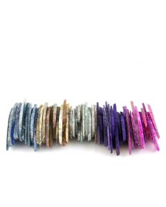 """Agate Slices 2"""" in Assorted Colours (50 Pieces) NETT"""