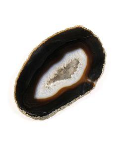 "A3 Agate Slice Black (2.5"" to 3"") (1 Piece) NETT"