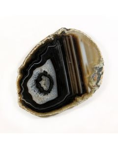 "A4 Agate Slice Black (3"" to 4"") (1 Piece) NETT"