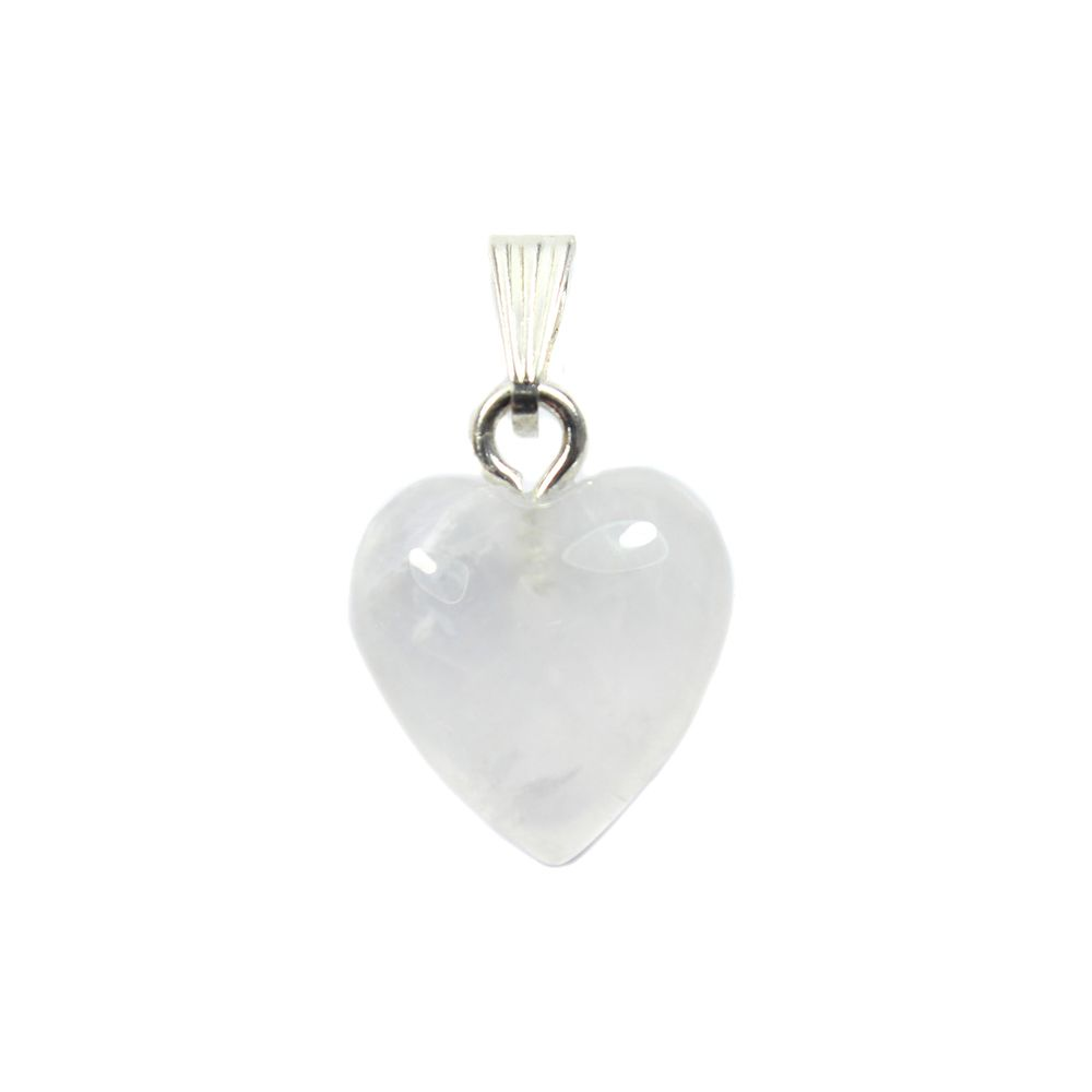 White Scolecite Pendant with 2 Cabochons in Silverplate 20mm x 40mm Ready to String with Bail for Necklace